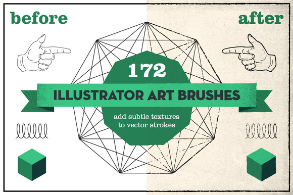 172 Vintage Pencil Brushes