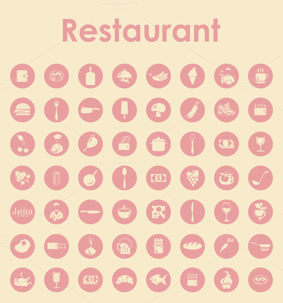 56 RESTAURANT Simple Icons