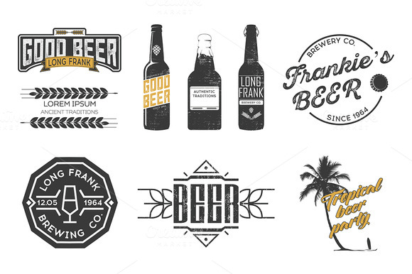 Vector Beer Labels
