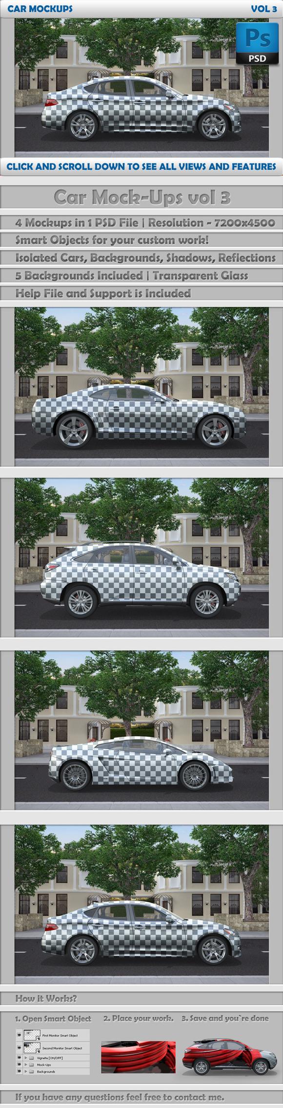 Car Mockups Vol 3 4 Car Mockups