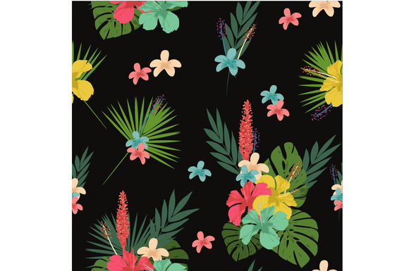 Flower Pattern Tablecloth Backgroun