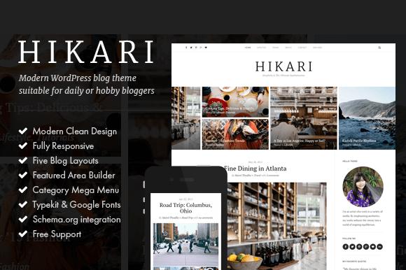 Hikari A Responsive WordPress Blog