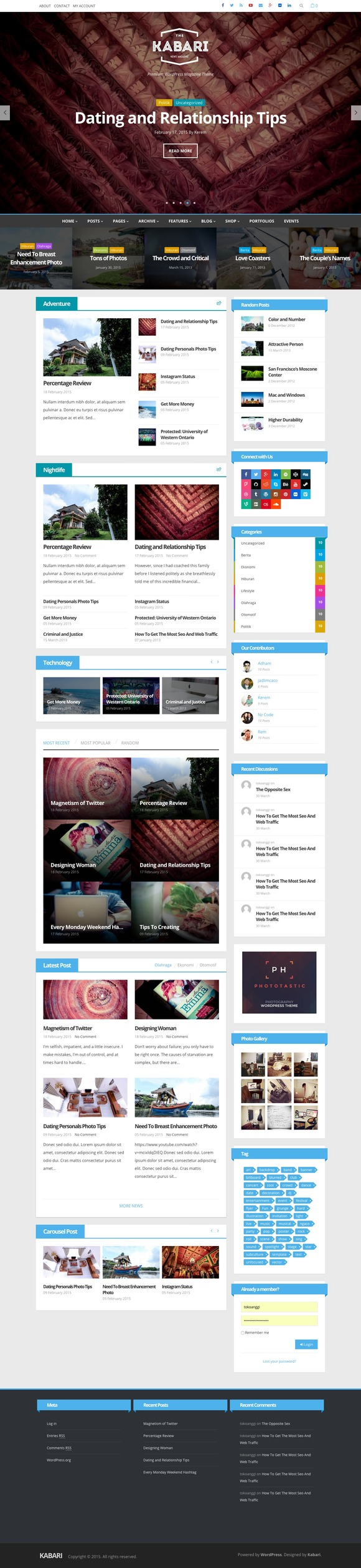 Kabari News Magazine Theme
