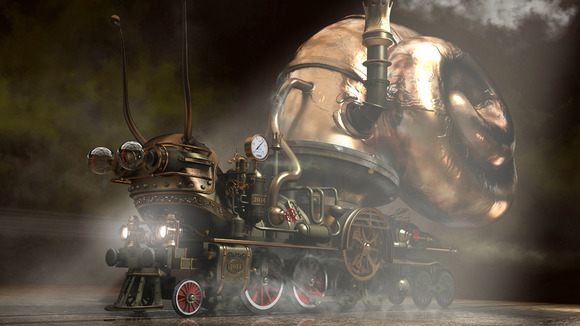 Snail Hybrid Locomotive Steampunk On