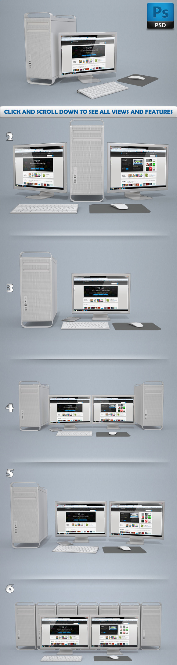 Workstation Display Mockups Apple