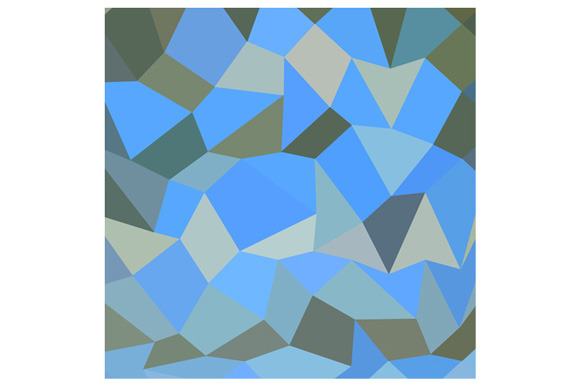 Bondi Blue Abstract Low Polygon Back