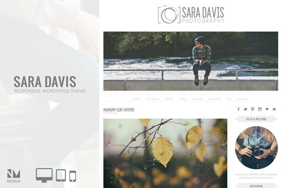 Sara Davis Wordpress Theme