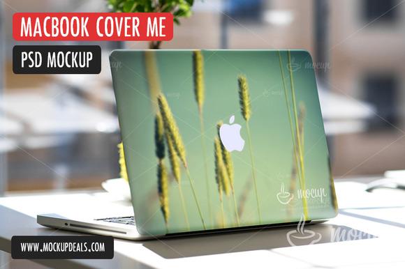 PSD Mockup MacBook Cover