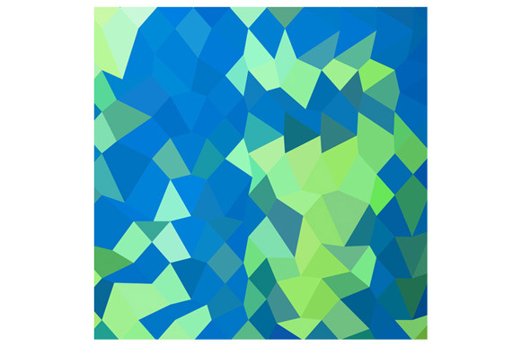 Dark Cyan Abstract Low Polygon Backg