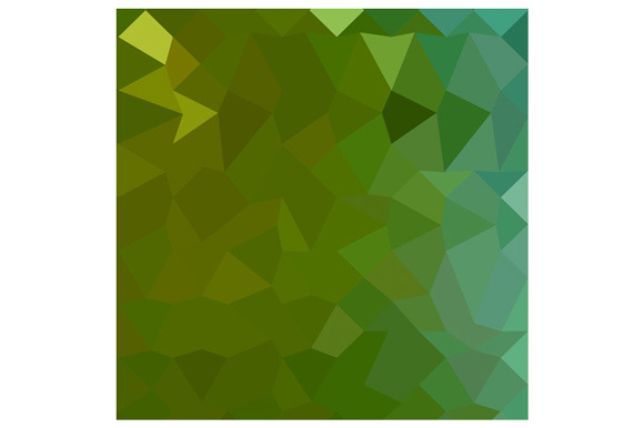 Dark Pastel Green Abstract Low Polyg