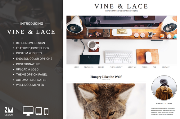 Vine Lace Handcrafted WordPress