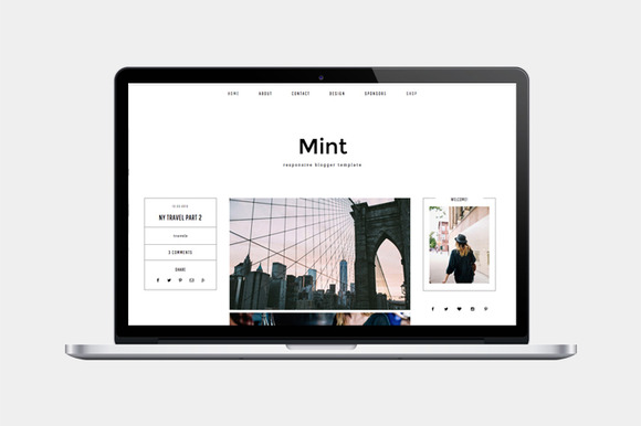 Responsive Blogger Template Mint