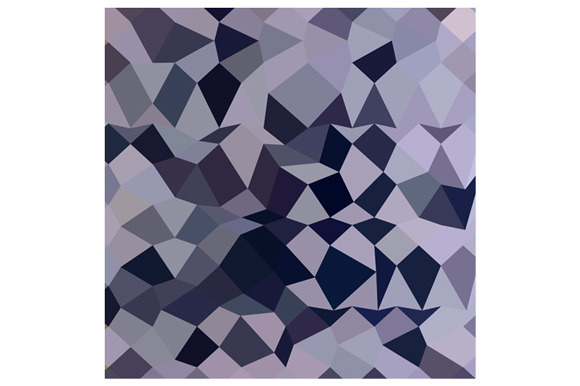 Licorice Black Abstract Low Polygon