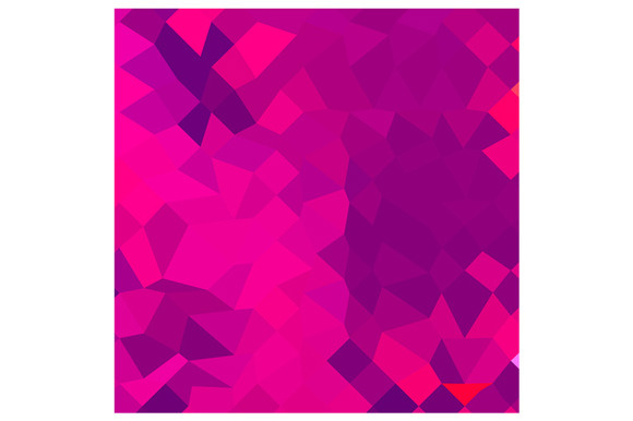Medium Violet Red Abstract Low Polyg