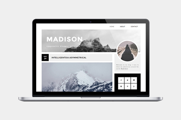 Responsive Blogger Template-Madison
