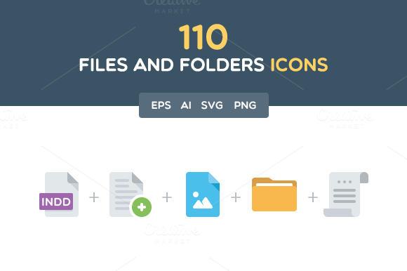 110 Files And Folders Icons