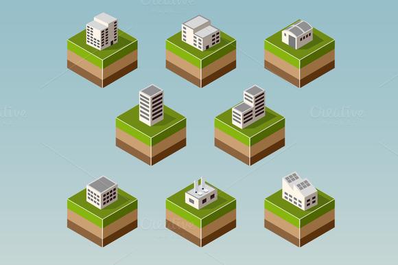 Set Isometric Houses
