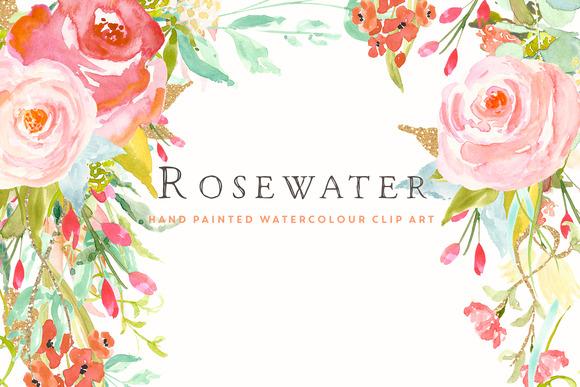 Flower Clip Art Rosewater