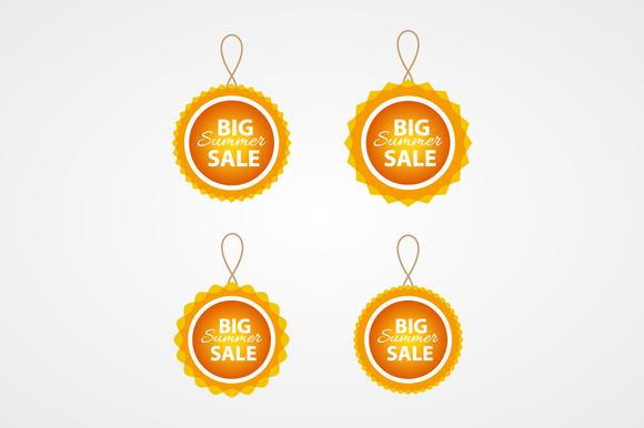 Summer Sale Vector Badges
