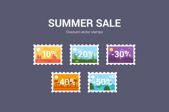 Summer Sale Discount Stamps