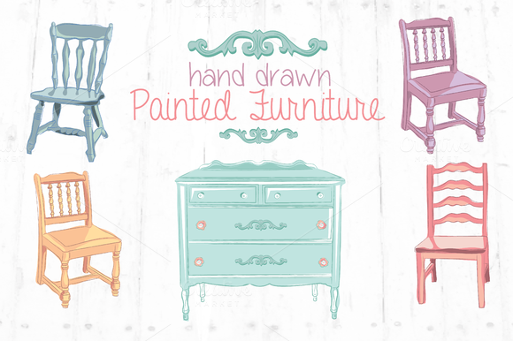 Hand Drawn Clip Art Furniture