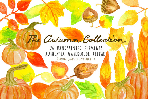 Autumn Watercolor Set