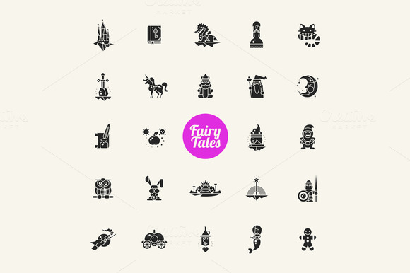 Fairy Tales And Magic Pictograms