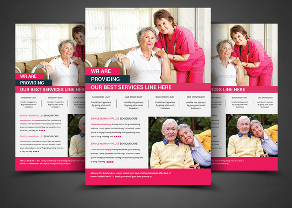 Elderly Care Flyer Print Templates