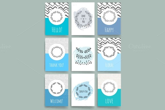 Set Of Invitation Templates