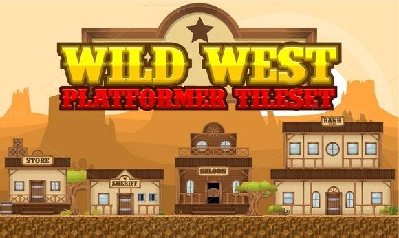 Wild West Platformer Tileset