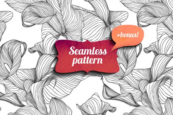 Calla Seamless Pattern Bonus
