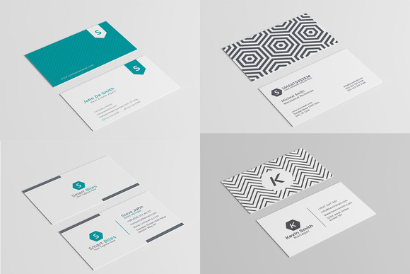 12 Minimal Business Card Templates