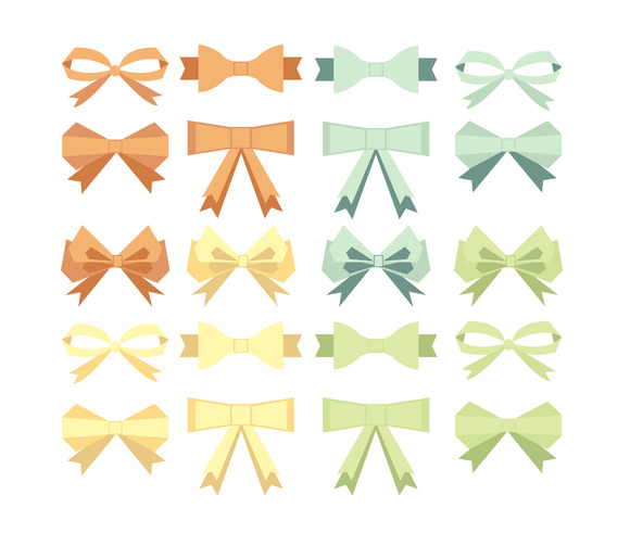 #19 Collection Flat Style Bow