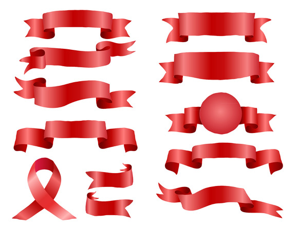 #25 The Collection Red Ribbons Banne