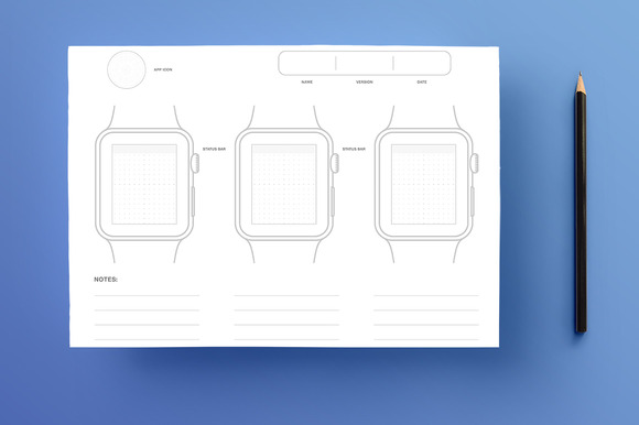 Apple Watch Sketchpad A4 PSD PDF