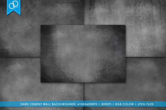 Dark Grunge Cement Wall Backgrounds