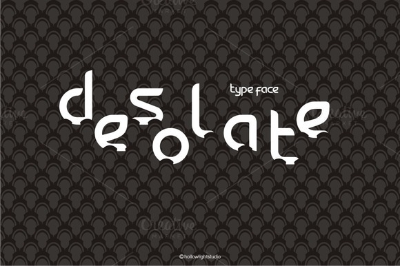 DESOLATE TYPE FACE Manual Fonts