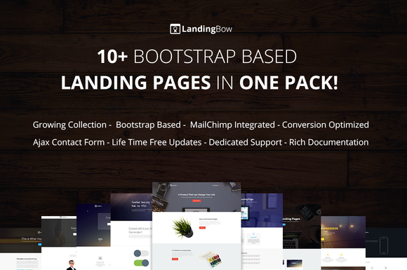 10 Bootstrap Landing Page Templates