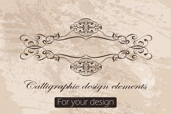 36 Calligraphic Design Elements