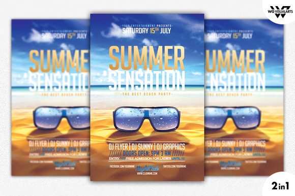 SUMMER SENSATION Flyer Template