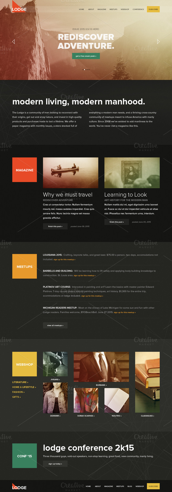 Lodge PSD Template