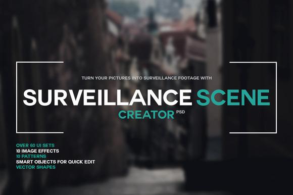 Surveillance Scene Creator PSD