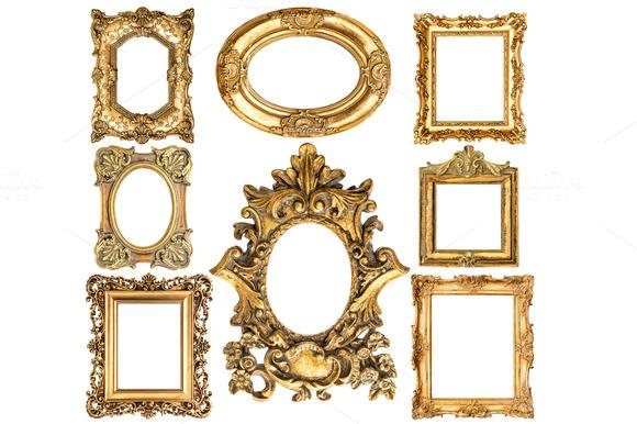 Baroque Style Antique Golden Frames