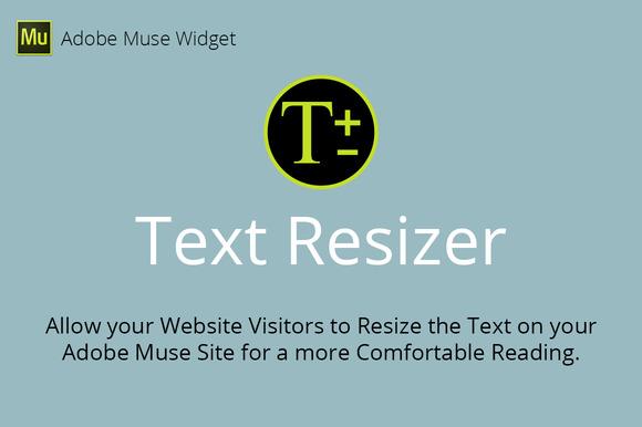 Text Resizer Adobe Muse Widget