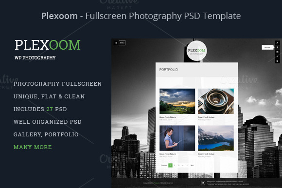 Plexoom Fullscreen Photography PSD