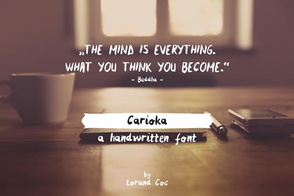 Carioka Handwritten Font