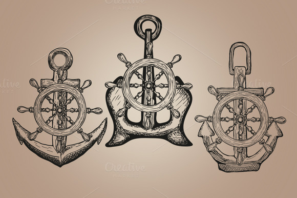 Vintage Marine Anchor