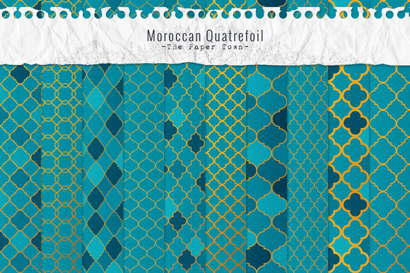 Moroccan Quatrefoil Digital Papers