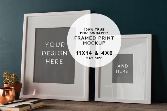 Rustic Teal Framed Prints Mockup #2