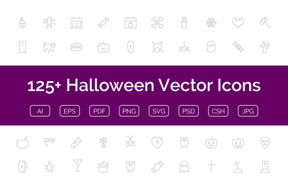 125 Halloween Vector Icons